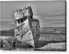 Ss Point Reyes Bw Acrylic Print by Jerry Fornarotto