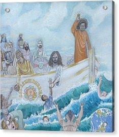 Sathya Sai Baba S.s.s. Sarva Dharma Acrylic Print by Sonya Ki Tomlinson