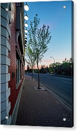 Acrylic Print featuring the photograph St. Anne Street At Dusk by Darcy Michaelchuk