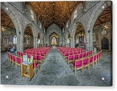Acrylic Print featuring the photograph St Asaph Cathedral by Ian Mitchell