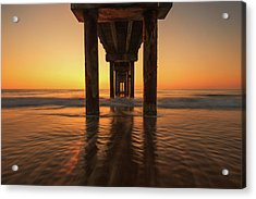 St Augustine Beach Pier Morning Light Acrylic Print