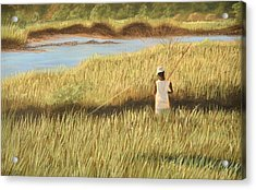 St. Augustine Fisherman Acrylic Print