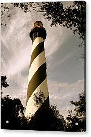 St. Augustine Light House Acrylic Print by Kimberly Camacho