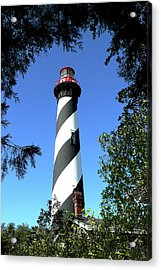 St. Augustine Light Tower Acrylic Print
