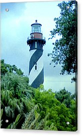 Acrylic Print featuring the photograph St Augustine Lighthouse by Frederic Kohli