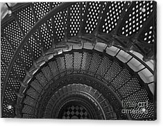 St. Augustine Lighthouse Spiral Staircase I Acrylic Print by Clarence Holmes