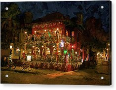 Acrylic Print featuring the photograph  St. Augustine Meehan's Pub by Louis Ferreira