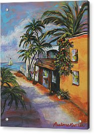 Acrylic Print featuring the painting St Augustine Street by Pauline  Kretler