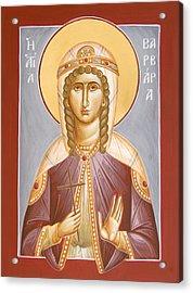 St Barbara Acrylic Print by Julia Bridget Hayes