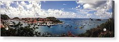 Acrylic Print featuring the photograph St. Barths Harbor At Gustavia, St. Barthelemy by Lars Lentz