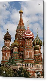 St. Basil's Cathedral Acrylic Print by Robert D McBain