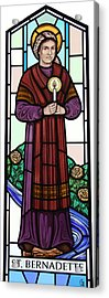Saint Bernadette  Acrylic Print by Gilroy Stained Glass