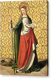 St. Catherine Of Alexandria Acrylic Print by Josse Lieferinxe