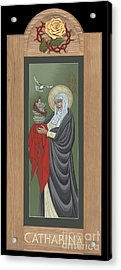 Acrylic Print featuring the painting St Catherine Of Siena With Frame by William Hart McNichols