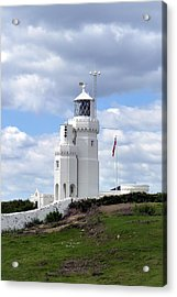 Acrylic Print featuring the photograph St. Catherine's Lighthouse On The Isle Of Wight by Carla Parris
