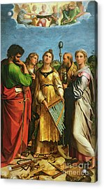 St Cecilia Surrounded By St Paul, St John The Evangelist, St Augustine And Mary Magdalene Acrylic Print