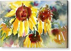 St. Charmand Sunflowers Acrylic Print