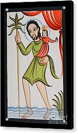 St. Christopher - Aochr Acrylic Print
