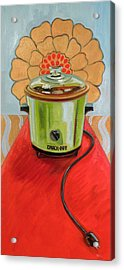 St. Crock Pot Of The Red Carpet Acrylic Print by Jennie Traill Schaeffer