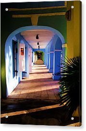 St. Croix Arches  Acrylic Print by Linda Morland