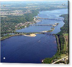 St Croix Lake And River Acrylic Print by Bill Lang