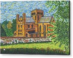 St Cross Church Winchester Acrylic Print by Pat Walden