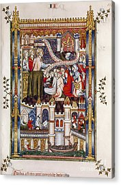 St. Denis Preaching, 1317 Acrylic Print by Granger