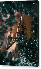 St Dunstan In The East Tower Acrylic Print