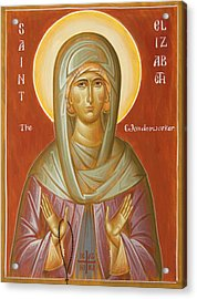 St Elizabeth The Wonderworker Acrylic Print by Julia Bridget Hayes