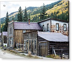 Acrylic Print featuring the photograph St. Elmo A Colorado Ghost Town by Nadja Rider