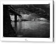 St. Elmo Breakwater Footbridge Acrylic Print