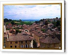 St. Emilion View Acrylic Print by Joan  Minchak