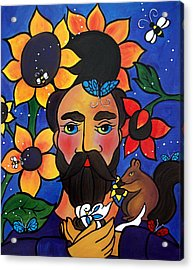 St. Francis - All Creatures Great And Small Acrylic Print
