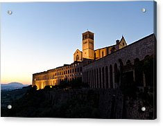 St Francis Assisi At Sundown Acrylic Print by Jon Berghoff