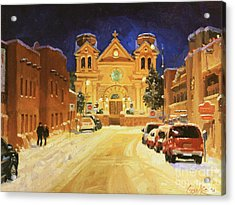 St. Francis Cathedral Basilica  Acrylic Print by Gary Kim