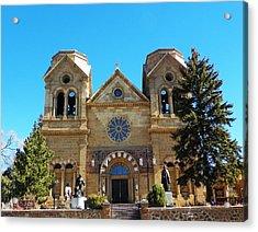 St. Francis Cathedral Santa Fe Nm Acrylic Print by Joseph Frank Baraba
