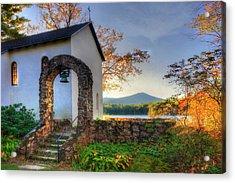 St Francis Chapel Mountain Scene - Marlborough Nh Acrylic Print