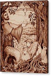 St. Francis Acrylic Print by Debra A Hitchcock