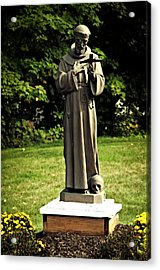 St Francis Of Assisi Acrylic Print by Mike Martin