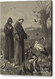 St Francis Preaches To The Birds  Acrylic Print by Henry Stacey Marks