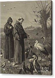 St Francis Preaches To The Birds  Acrylic Print