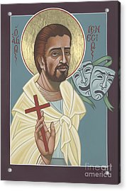 Acrylic Print featuring the painting St Genisius Patron Of Actors 279 by William Hart McNichols