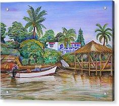 St. George Harbor Acrylic Print by Patricia Piffath