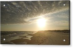 St George Island Sunset I Acrylic Print by Peg Toliver