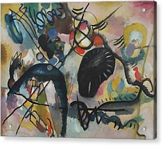 Black Spot I Acrylic Print by Wassily Kandinsky