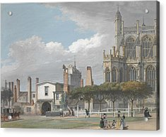 St. George's Chapel, Windsor, And The Entrance To The Singing Men's Cloister Acrylic Print by Paul Sandby
