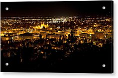 St Helena Cathedral And Helena By Night Acrylic Print