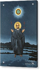 St. Ignatius In Prayer Beneath The Stars 137 Acrylic Print