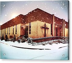 St. Isaac Jogues In The Snow Acrylic Print