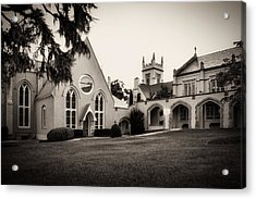 St James Parish Wilmington North Carolina In Sepia Acrylic Print